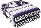 YogaDirect Deluxe Mexican Yoga Blanket, Purple, 76-Inch x 57-Inch