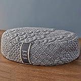 Brentwood Home Crystal Cove Meditation Cushion, Buckwheat Zafu Oval Floor Pillow, Made in California