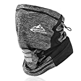 VOCALOL Summer UV Protection Elastic Balaclava Face Covering,Cooling Face Scarf Dust Cover Reusable Headwear Sports-Headbands Neck Gaiter for Adult, Kids for Sport,Outdoor,Fishing,Cycling (Gray)