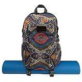 Kindfolk Yoga Mat Backpack Two Straps Patterned Canvas (Celestial)