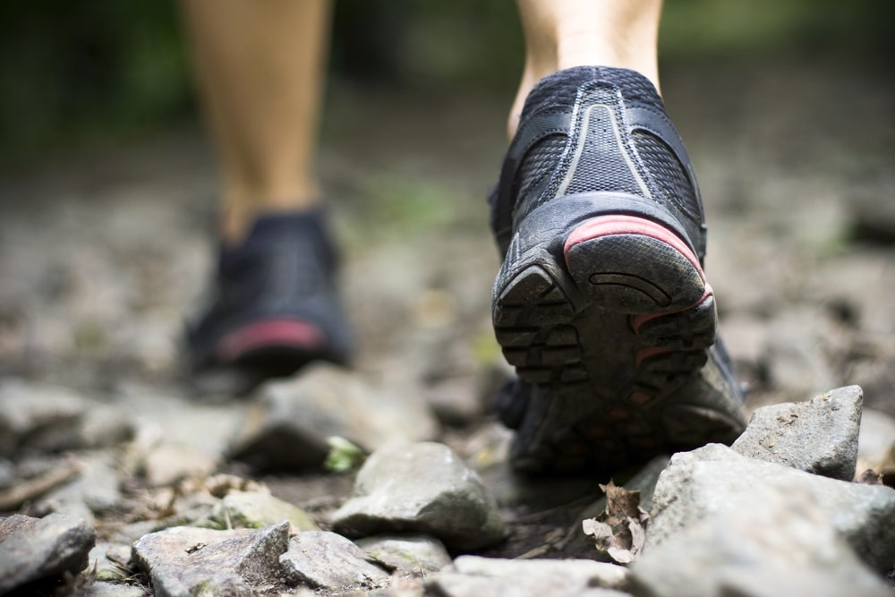 trail running over rocks