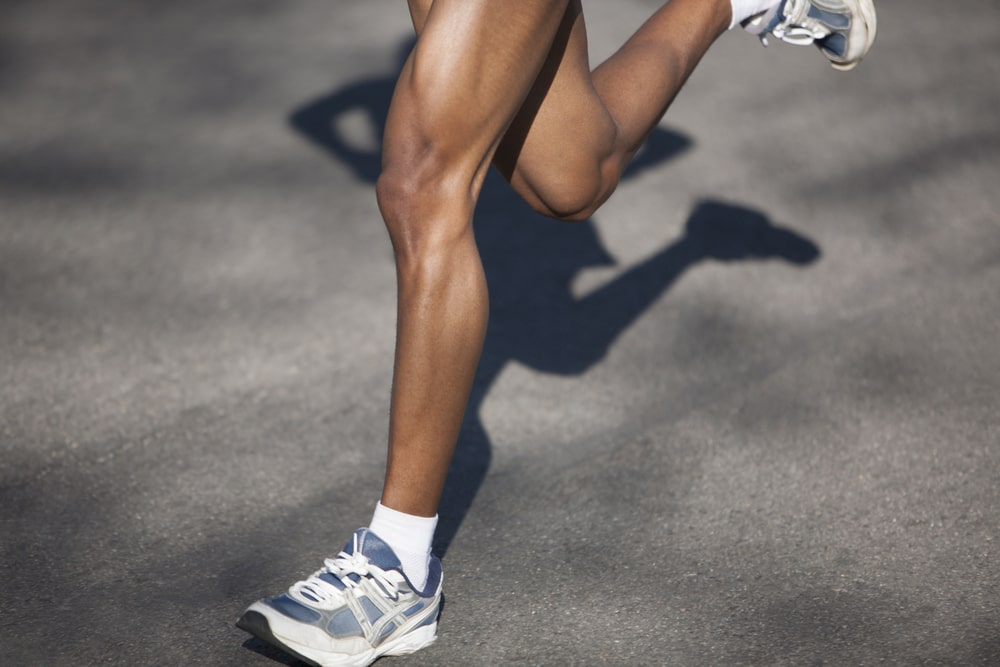 Runner building muscle