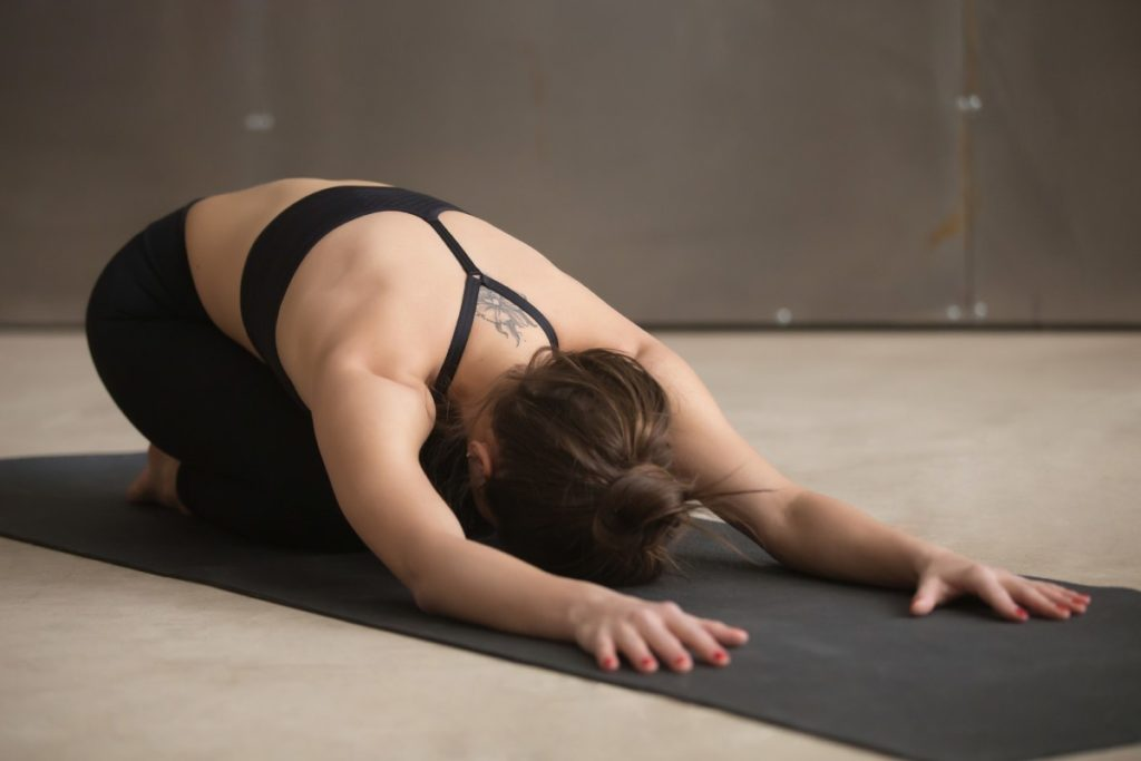 Child pose for lower back pain